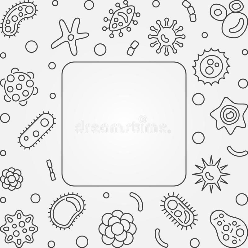 Struttura quadrata dei virus Illustrazione del profilo di concetto di vettore royalty illustrazione gratis