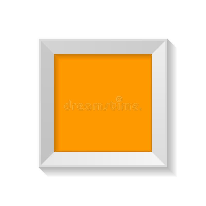 Struttura quadrata minimalista con il artboard in bianco isolata sull'illustrazione bianca di vettore del fondo illustrazione vettoriale