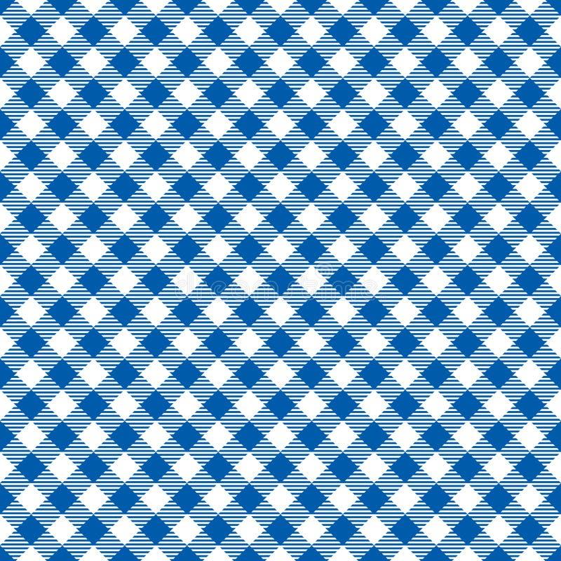 Struttura a quadretti diagonale blu senza cuciture del fondo del modello del tessuto illustrazione di stock