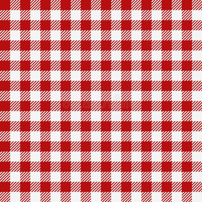 Struttura a quadretti rossa, modello senza cuciture del ristorante royalty illustrazione gratis