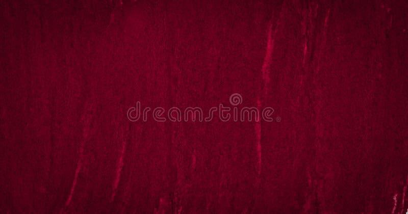 Struttura ricca dell'acquerello di Borgogna con i colpi lacerati e le bande Fondo astratto per progettazione, disposizioni, model fotografia stock
