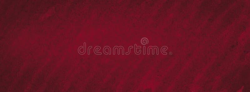 Struttura ricca dell'acquerello di Borgogna con i colpi lacerati e le bande Fondo astratto per progettazione, disposizioni, model immagine stock