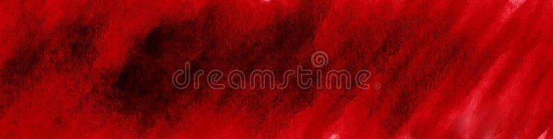 Struttura ricca dell'acquerello di Borgogna con i colpi lacerati e le bande Fondo astratto per progettazione, disposizioni, model immagine stock libera da diritti
