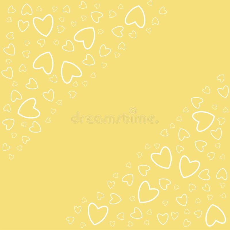 Struttura romantica con i cuori Per le stampe, carte, inviti, compleanno, feste, partito, celebrazione, nozze, San Valentino illustrazione di stock