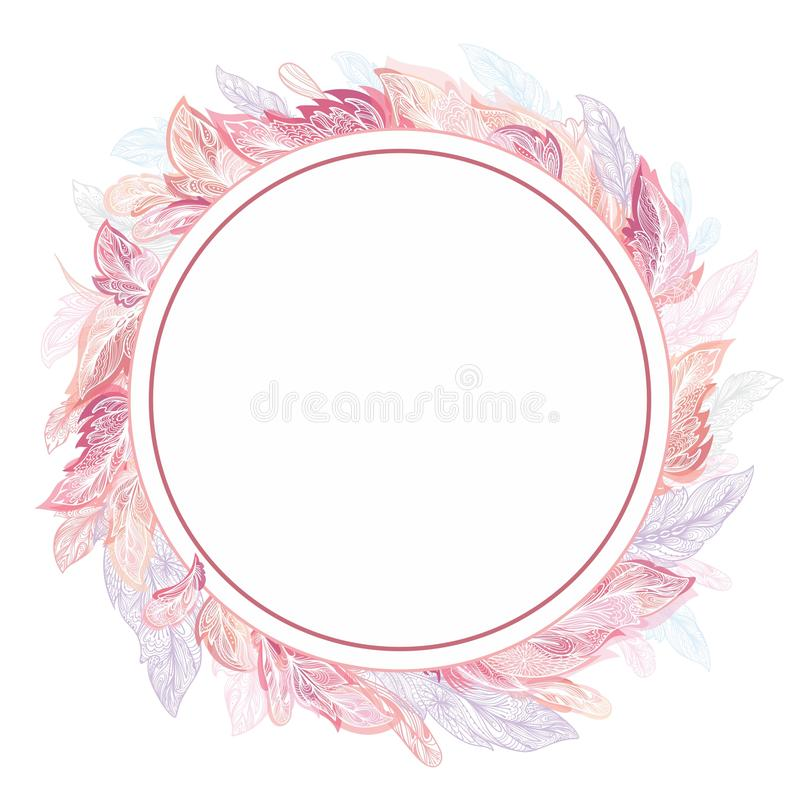 Struttura romantica di vettore della piuma royalty illustrazione gratis