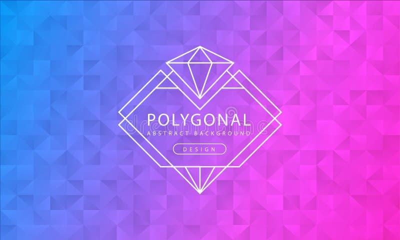 Struttura rosa blu poligonale del fondo dell'estratto, strutturata rosa blu, ambiti di provenienza del poligono dell'insegna, ill illustrazione vettoriale