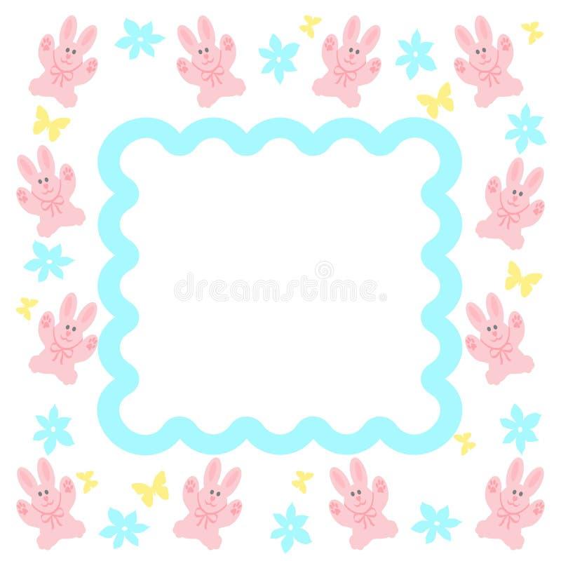 Struttura rosa del coniglietto illustrazione di stock