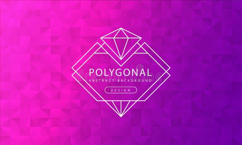 Struttura rosa porpora poligonale del fondo dell'estratto, strutturata rosa porpora, ambiti di provenienza del poligono dell'inse illustrazione vettoriale
