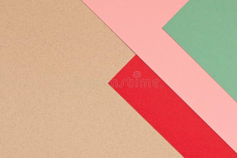 Struttura rosa-rosso e blu grigia del fondo di carta colorata Tren fotografie stock