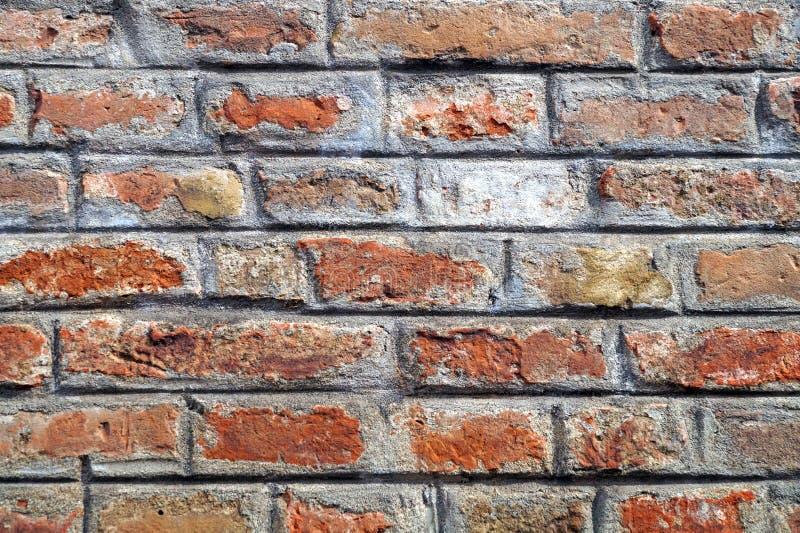 Struttura rossa del modello della muratura del muro di mattoni Grande per le iscrizioni dei graffiti immagini stock libere da diritti