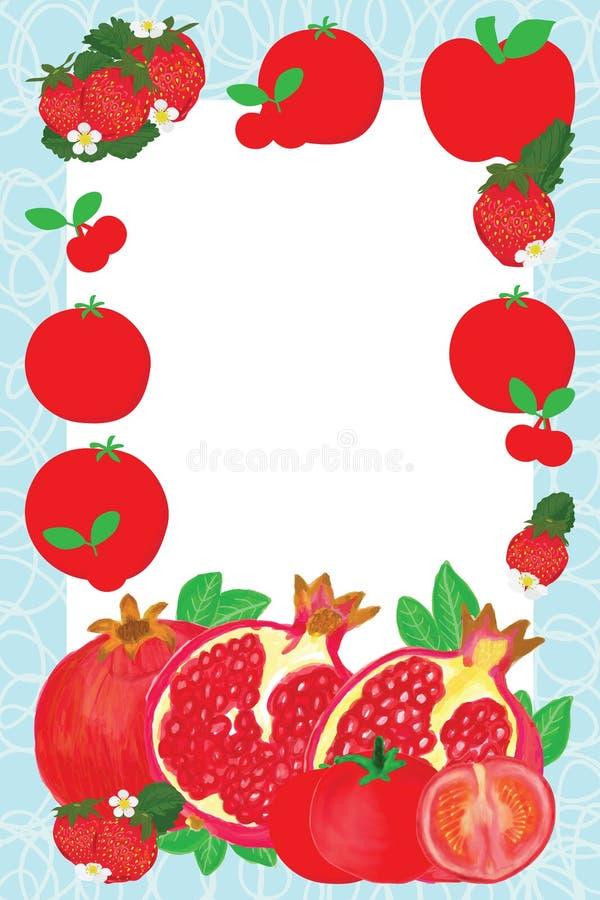 Struttura rossa della frutta della pelle royalty illustrazione gratis