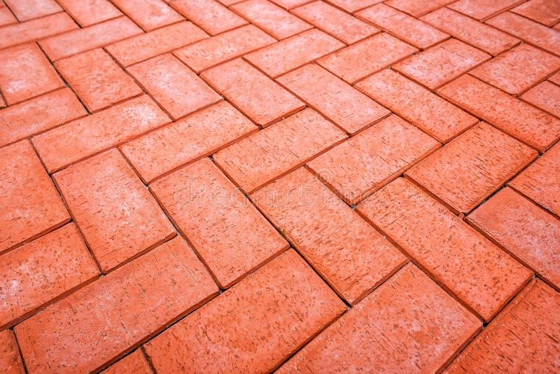 Struttura rossa della pavimentazione fotografie stock libere da diritti