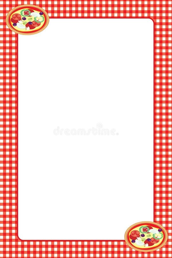 Struttura rossa della pizza del percalle illustrazione vettoriale