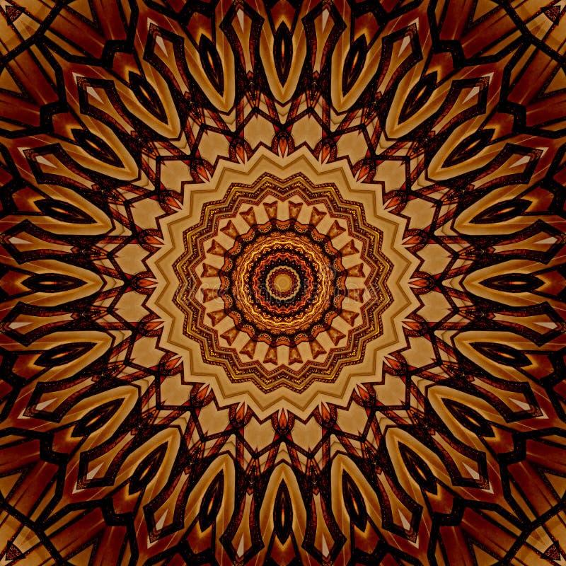 Struttura rossa e dorata di progettazione di arte di Digital della stella illustrazione vettoriale