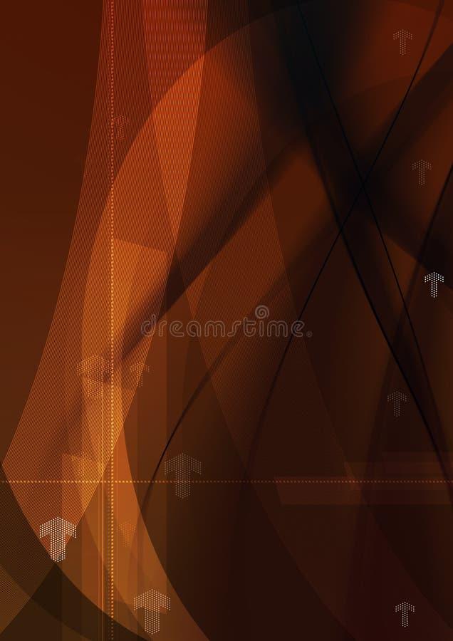 Struttura rossa ed arancio del fondo grafico della freccia astratta - - fondo astratto di tecnologia illustrazione di stock