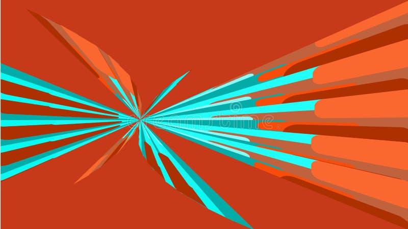 Struttura rossa, fondo semplice di belle forme geometriche luminose multicolori astratte minimalisti sotto forma di spirale, un B illustrazione vettoriale