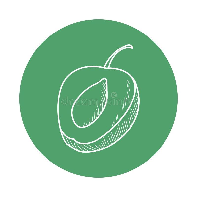 Struttura rotonda della pesca sana di nutrizione della frutta fresca illustrazione di stock