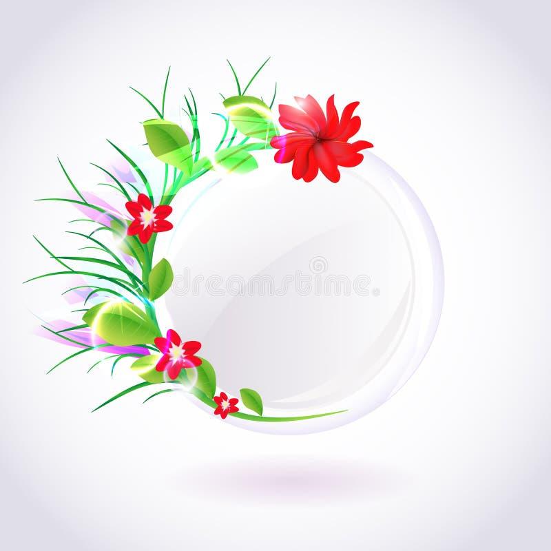 Struttura rotonda della primavera Vettore fotografia stock
