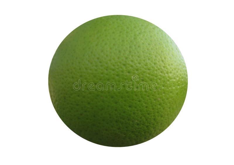 Struttura rotonda verde della sfera degli agrumi con i crateri delle fossette fotografie stock libere da diritti