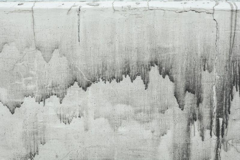 Struttura rustica della foto del muro di cemento Vecchia superficie di calcestruzzo con i gocciolamenti e la sporcizia fotografie stock