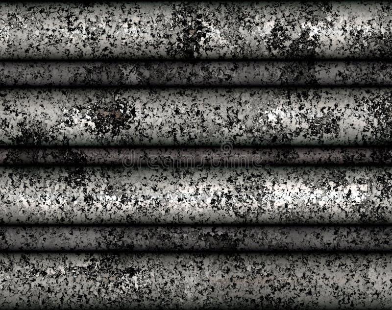 Struttura rustica delle mattonelle del metallo della pittura di Digital con il fondo d'argento di colore immagini stock