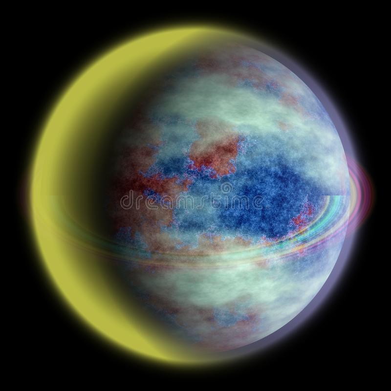 Struttura sconosciuta del pianeta, del tipo di terra 3d 12 illustrazione di stock