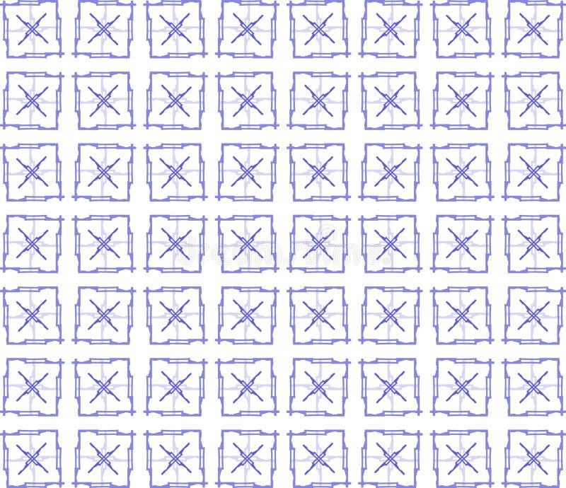 Struttura semplice con i quadrati artistici nei toni blu illustrazione di stock