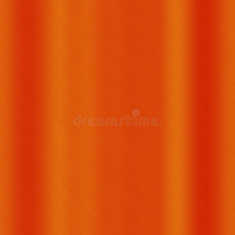 Struttura senza cuciture arancio del metallo, modello astratto del fondo di colore royalty illustrazione gratis