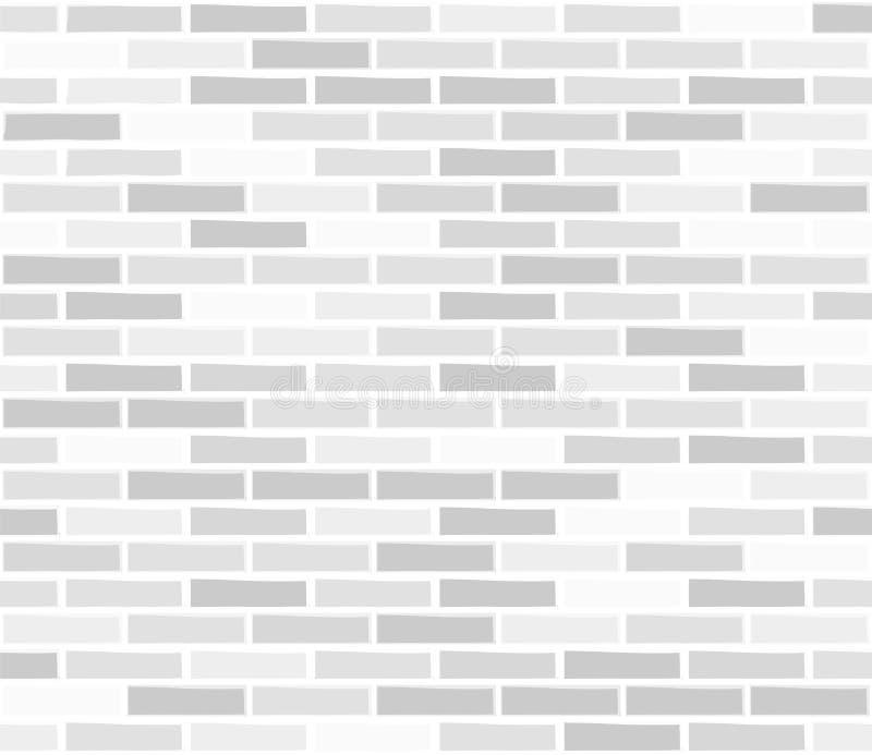 Struttura senza cuciture bianca del muro di mattoni illustrazione vettoriale