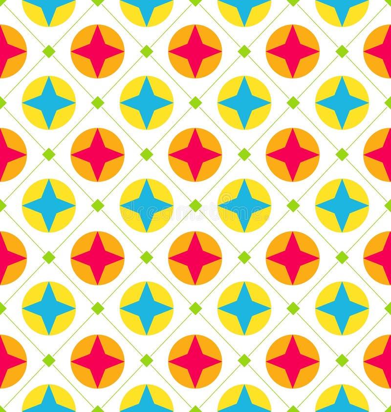 Struttura senza cuciture con le forme geometriche, fondo variopinto royalty illustrazione gratis