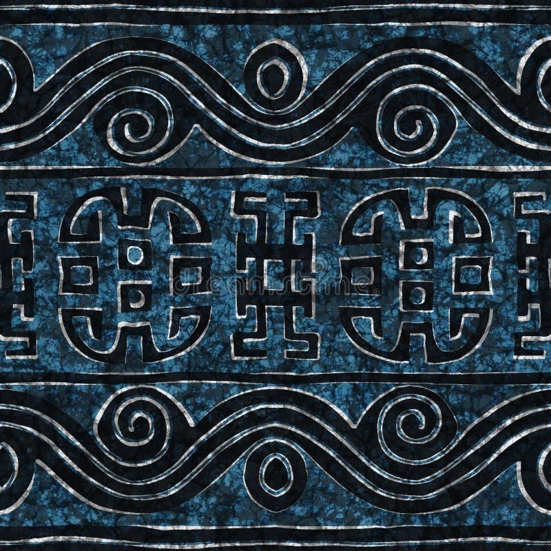 Struttura senza cuciture del batik blu fotografia stock libera da diritti