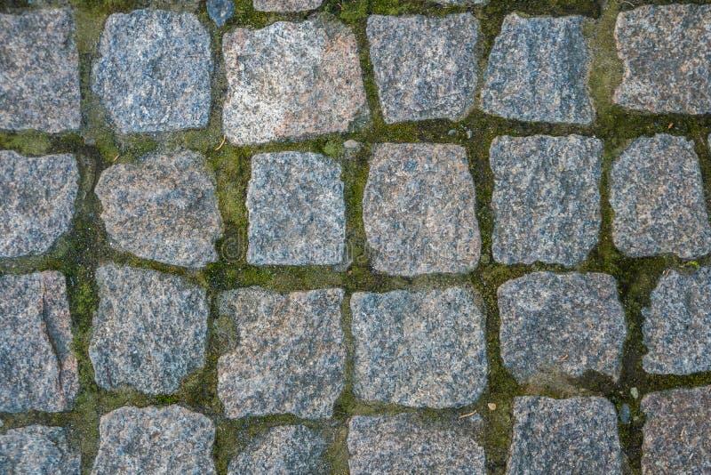 Struttura senza cuciture del blocco di pietra, la strada ai pedoni fotografie stock