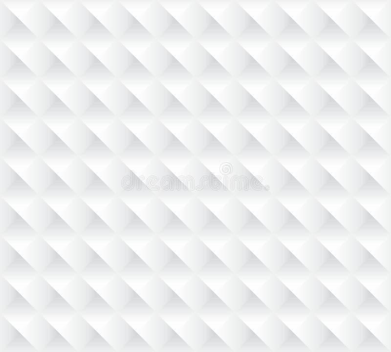 Struttura senza cuciture del fondo bianco 3d illustrazione vettoriale