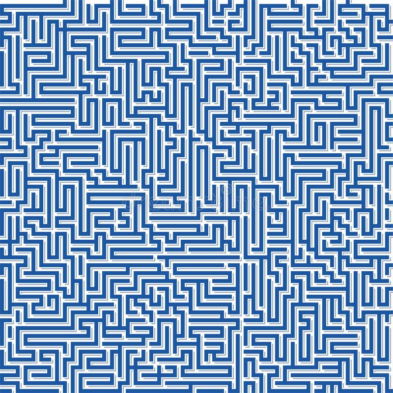 Struttura senza cuciture del labirinto Forme diritte geometriche del cervello illustrazione vettoriale