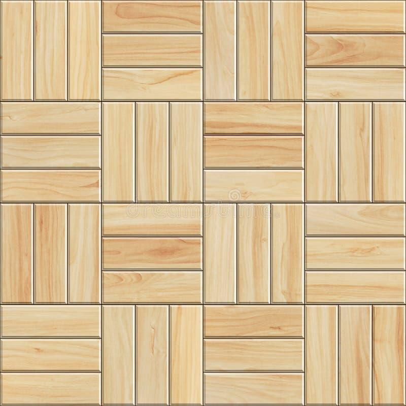 Struttura senza cuciture del parquet di legno leggero Modello di alta risoluzione di legno a quadretti illustrazione di stock
