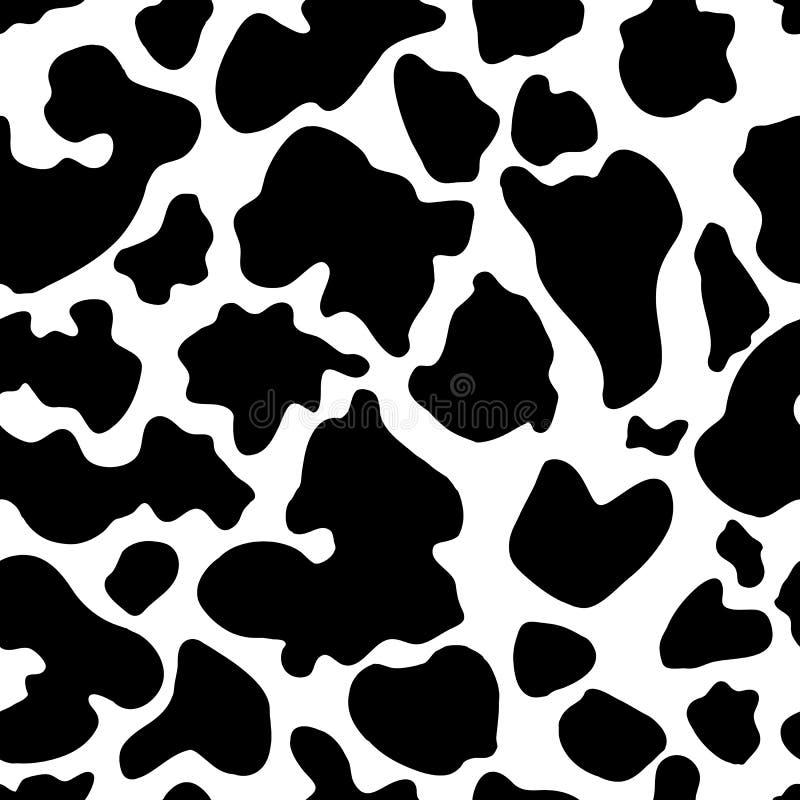 Struttura senza cuciture del pellame della mucca Pelle della carta da parati del bestiame illustrazione vettoriale