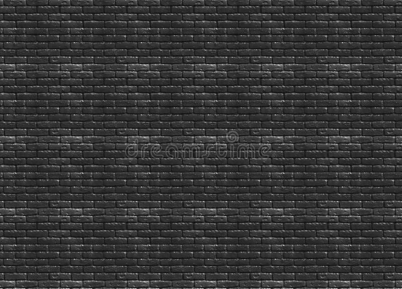 Struttura senza cuciture del vecchio muro di mattoni nero immagine stock