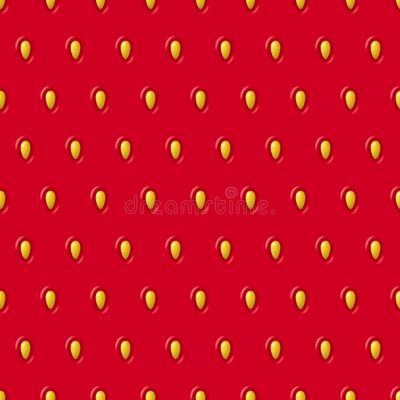 Struttura senza cuciture della fragola di vettore Modello rosso con la bacca ed i semi illustrazione di stock