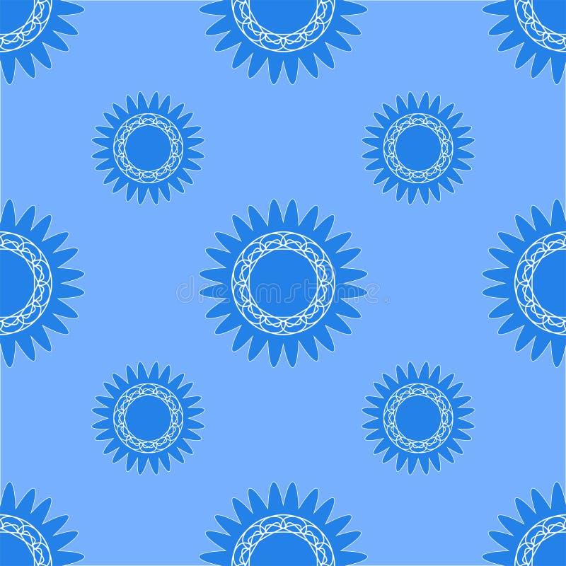 Struttura senza cuciture delle forme geometriche nei toni blu royalty illustrazione gratis