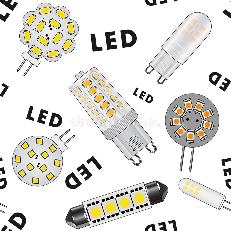 Struttura senza cuciture delle lampadine del LED royalty illustrazione gratis