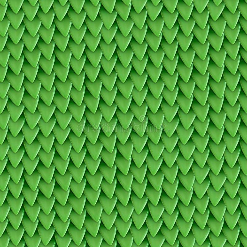 Struttura senza cuciture delle scale metalliche del drago Modello della pelle del rettile immagini stock