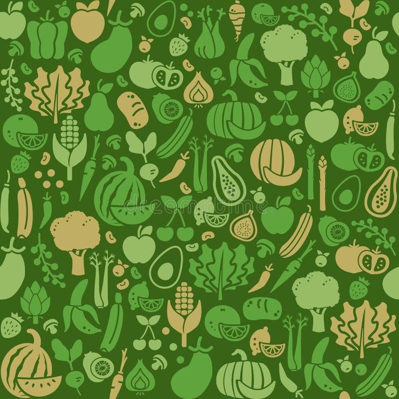 Struttura senza cuciture delle verdure illustrazione vettoriale
