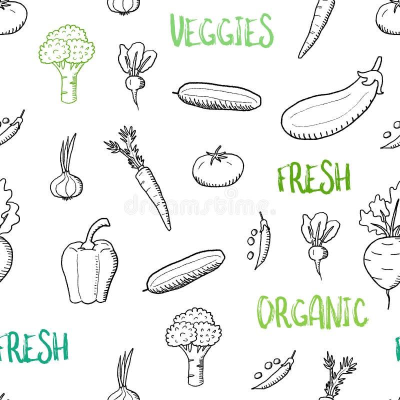 Struttura senza cuciture delle verdure illustrazione di stock