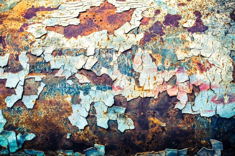 Struttura senza cuciture di arrugginito colorato ruvido, fondo d'annata immagine stock libera da diritti