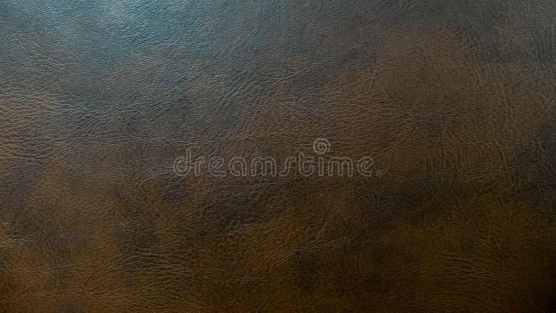 Struttura senza cuciture di cuoio scura usata del fondo del modello di Brown per il materiale della mobilia fotografia stock