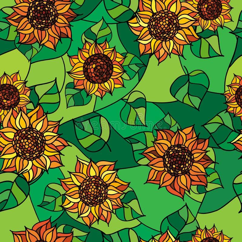 Struttura senza cuciture di flowers_01 giallo immagini stock libere da diritti