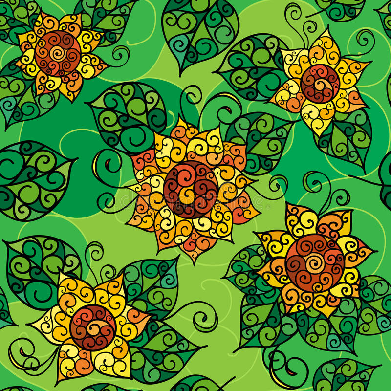 Struttura senza cuciture di flowers_02 giallo immagine stock libera da diritti