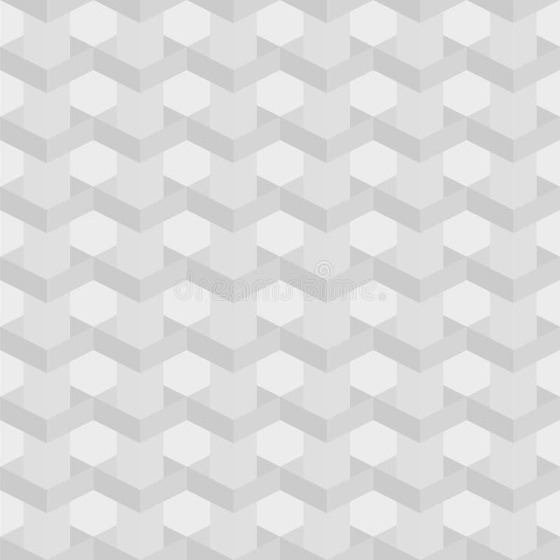 Struttura senza cuciture di grey ai quadrati bianchi illustrazione di stock