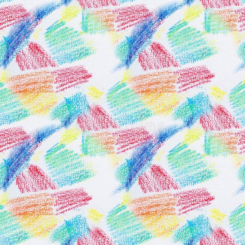 Struttura senza cuciture di lerciume dei colpi pastelli Abbozza il fondo astratto senza cuciture di lerciume Elemento di disegno illustrazione di stock