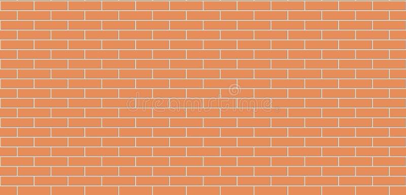 Struttura senza cuciture di marrone del muro di mattoni Fondo della muratura illustrazione vettoriale